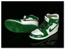 Mini Kicks 1/6 High Tops Green & White w/ green Check Shoes - SOA - SK005-13