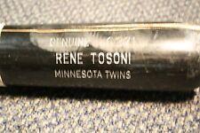 RENE TOSONI GAME USED LOUISVILLE SLUGGER WOOD BAT MINNESOTA TWINS Q