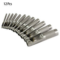 12Pcs/Set Round Hollow Punch Leather Craft Punch Tool Hole Punch Cutter Tool