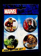 Marvel Comics: Avengers Carded 4 Button Set # 5 **NEW** FREE SHIPPING