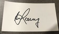 Bill Lawry Signed White Index Card with COA.