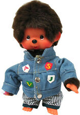 Sekiguchi Monchhichi Boy in Jean Jacket (Sport) Plush Official Licensed EX293502