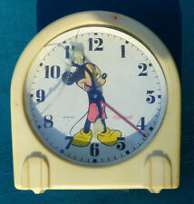 Mickey mouse vintage 1940'S Wind Up Alarm Clock U.S Time Corporation ingersoll