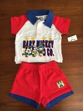 New Baby Mickey & Co. baby boys two piece outfit size 12 months