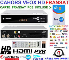 DÉCODEUR SATELLITE TNT HD FRANÇAISES FRANSAT CAHORS VEOX PVR CARTE PC6 INCLUSE