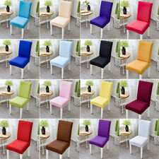 1PCS Dining Chair Seat Covers Slip Stretch Wedding Banquet Party Decor Removable