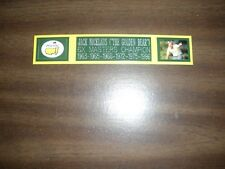 JACK NICKLAUS 6X MASTERS CHAMP ENGRAVED NAMEPLATE FOR PHOTO/DISPLAY/POSTER