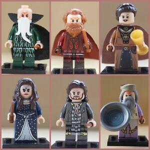 Dumbledore Salazar Helga Sirius Rowena 6 Mini Figures Hogwarts Harry Potter Toys
