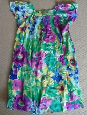 NWT One Red Fly Girls Floral Garden Bed Summer Party Peasant Dress Size 12