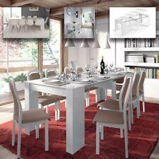 Tavolo allungabile fino a 237 cm salvaspazio consolle soggiorno BIANCO LUCIDO