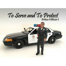 POLICE OFFICER I FIGURE FOR 1:18 SCALE MODELS BY AMERICAN DIORAMA 24011