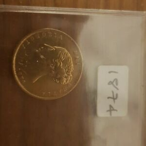 HALF SOVEREIGN COIN 1874  DIE EARLY