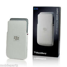 Genuina Original Blackberry Z30 Blanco De Cuero Bolsillo Bolsa acc-57196-002