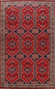 Tribal Geometric Abadeh Hand-knotted Area Rug Wool Oriental Large Carpet 10x13