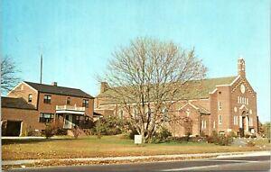 Seaford Sussex Delaware Lourdes Catholic Church 1950s Chrome Postcard AC
