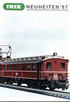 Trix Minitrix Neuheiten 1987 Prospekt Modellbahnprospekt brochure model railway