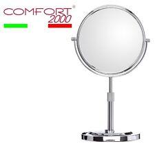 Specchio ingranditore bifacciale per trucco/barba ottone da tavolo COMFORT2000
