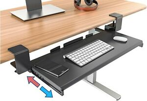 Clamp On Keyboard Tray Under Desk Storage - Ergonomic Desk Drawer Computer Keybo