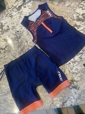 2Xu Triathlon 2-piece Set for Women Size Small navy and coral