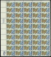 1976 Bicentennial BENJAMIN FRANKLIN - Sheet of 50 (13c) Stamps - Mint US#1690