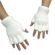 Unisex Gloves Mitten Fingerless Fleece Half-Fingers Fuzzy Adult Warm Winter NEW