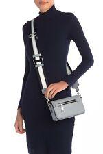 Marc Jacobs Gotham Crossbody Leather Bag ~ Rock Grey ~ Silver Hrdware M0015465
