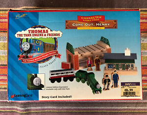 1998 Learning Curve Wooden Thomas Train Come Out Henry Set! RARE! NEW!