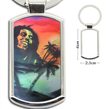 KeyRing Stainless Steel Key Chain Ring Bob Marley Y00015
