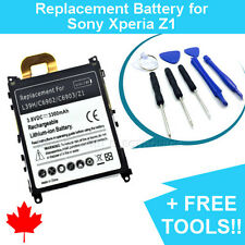 NEW Sony Xperia Z1 Replacement Battery L39h 3300mAh and FREE Repair Tools