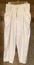 1980s Vintage White Capri Pants