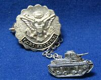 WWII Sterling Army Armor Corps Sherman Tank - Fort Knox Home Front Pins