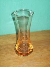 """SIGNED CAITHNESS ART GLASS VASE AMBER ORANGE THISTLE 7""""tall HANDMADE IN SCOTLAND"""