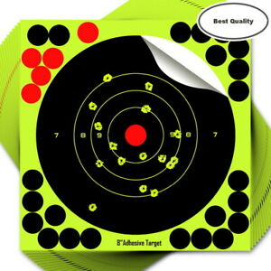 "25 x Splatter shot Target 8"" Shoot rifle pistol reactive air N C 8 glow Type 'A'"