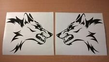 LARGE vinyl car stickers tribal wolf head flames side graphics decals bonnet vw