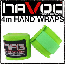Havoc 4m Comfy Hand Wraps Bandages Boxing Mexican Gloves Muay Thai MMA Cotton UK