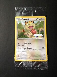 Build-A-Bear Pokemon MEOWTH COLLECTORS CARD Gamer Limited SEALED MINT NEW