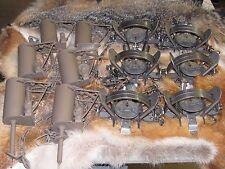 6 Powder Coated Duke Dp & 6 1 1/2 coilspring Coon Traps Raccoon fox New Sale