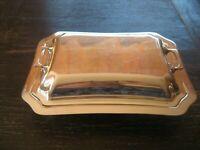prächtige Art Deco Servierschale Schale Haube Deckel Griffe silber pl Sheffield