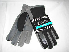 Mens ISOTONER Signature ACTIVE Smart Touch Gloves GREY/BLACK  NWT- X-LARGE