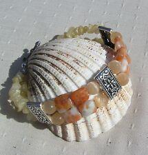 "Orange Calcite Gemstone Crystal Bracelet ""Mystique"""