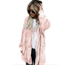 Women Teddy Bear Coat Jacket Winter Warm Hoodie Sweater Jumper Long Outwear Plus