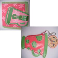 Cheer Leading Purse 2 Styles Cheer Megaphones Pink and green