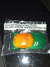 2002 Hot Wheels Malaysia Golden Arrow Green/Orange Die-Cast Car