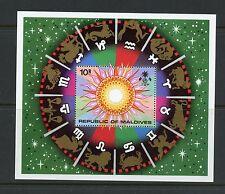 Maldives 1974  #515  Zodiac  Sun constellations   sheet  MNH  K720