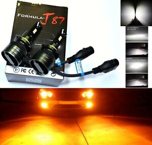 LED Kit G8 100W 9006 HB4 Amber Two Bulbs Head Light Low Beam Replacement Stock