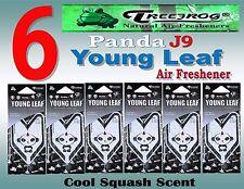 6 Packs Treefrog PANDA J9 YOUNG LEAF Car Air Freshener- Cool Squash Scent.JDM