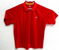 Adidas Mens Red ClimaLite Golf Polo Short Sleeve Shirt Size Large EUC