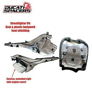 Ducati V4 / V4S Streetfighter Heat Shield Kit (All Models) By Ducati Spacers