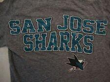 NHL San Jose Sharks Hockey Sportswear Fan Apparel Gray Soft T Shirt Size M
