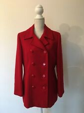 JACQUES VERT RED WOOL COAT SIZE 14